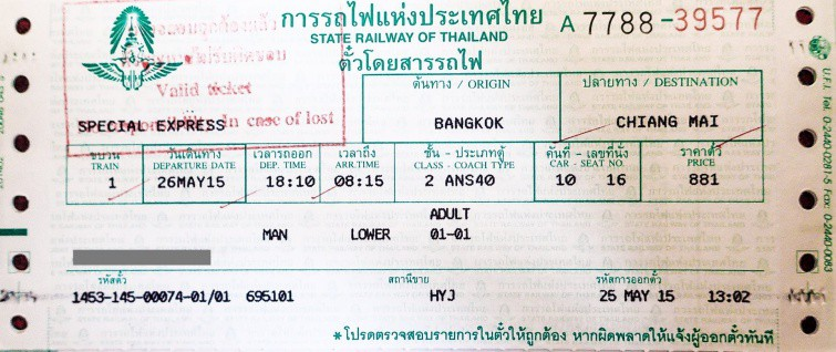 thailand-train-second-class-ticket