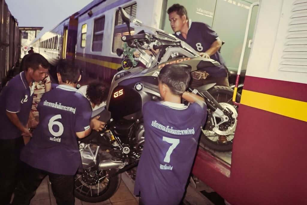 Transporting Motorcycle On Thailand Train