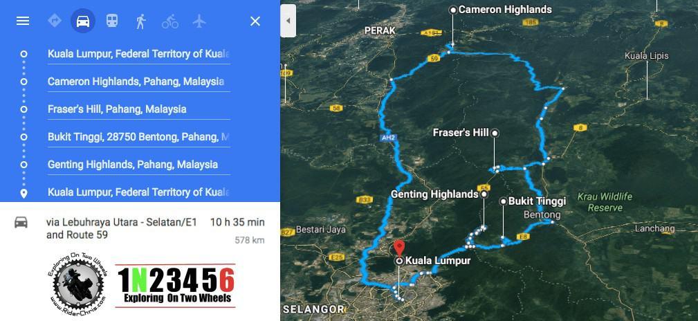 thousand corner malaysia map