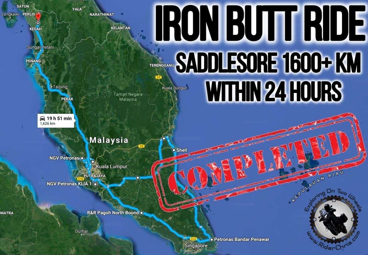 (IBA) Iron Butt Ride - 1600+ KM In 24 Hours