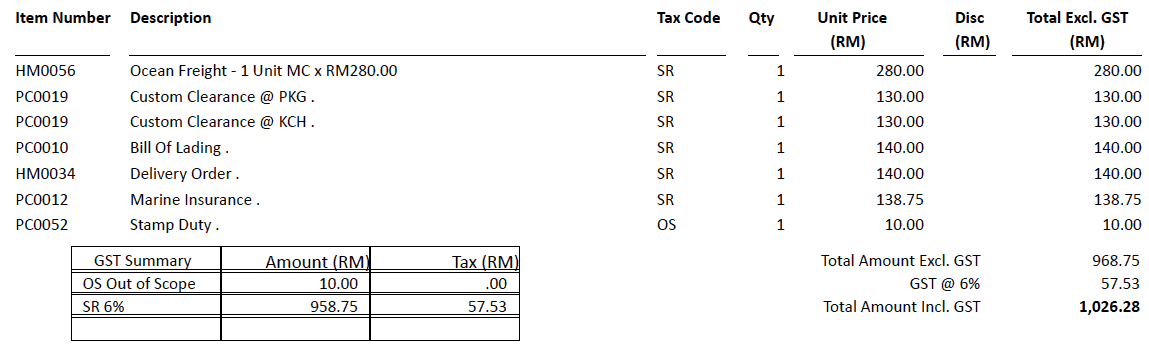 pos malaysia receipt