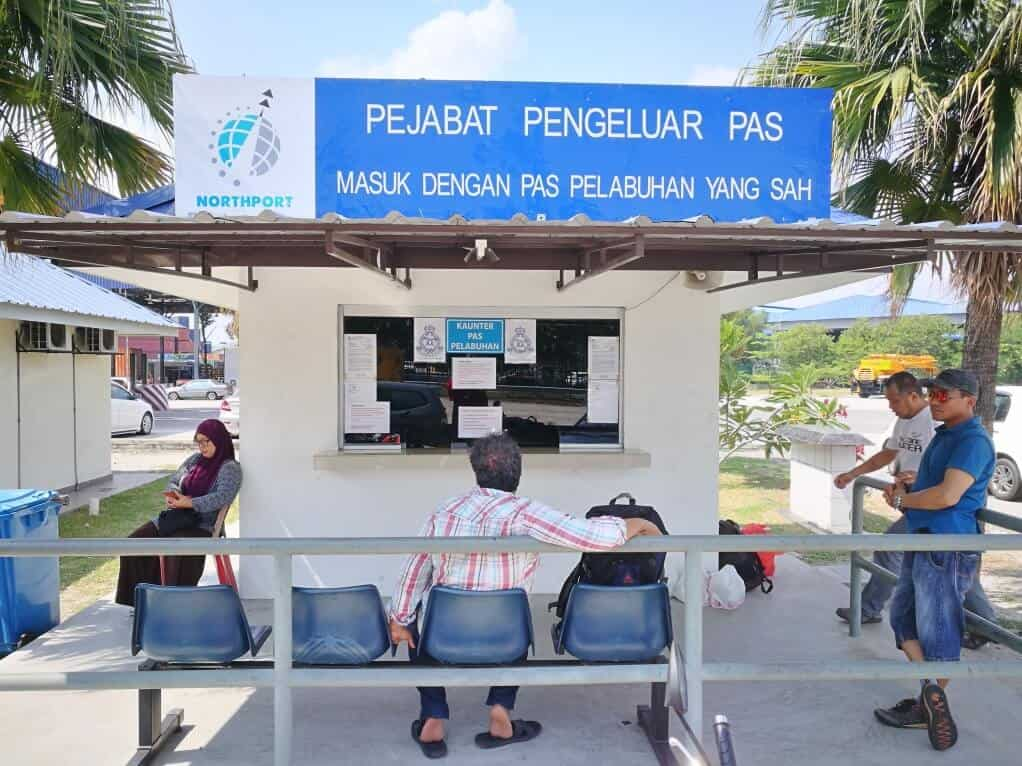 North Port main entrance (Gate 1) registration counter