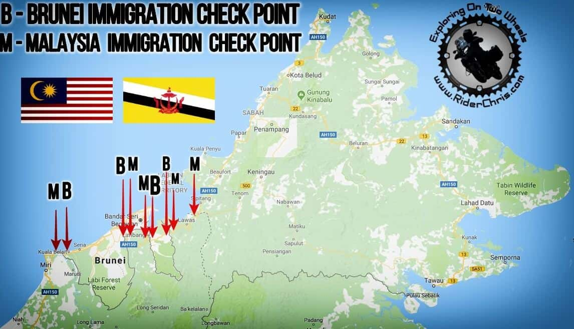 Malaysia - Brunei Border Crossing By Car Or Motorcycle