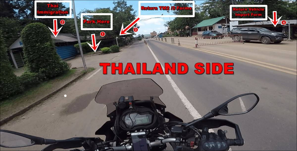 Cambodia border crossing from Thai side