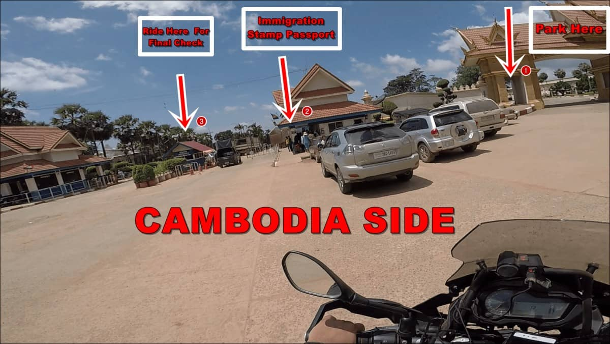 Thailand - Cambodia Border Crossing By Car Or Motorcycle