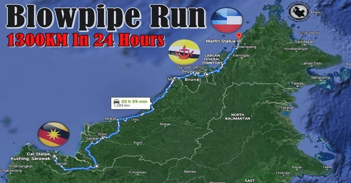 borneo blowpipe run ride