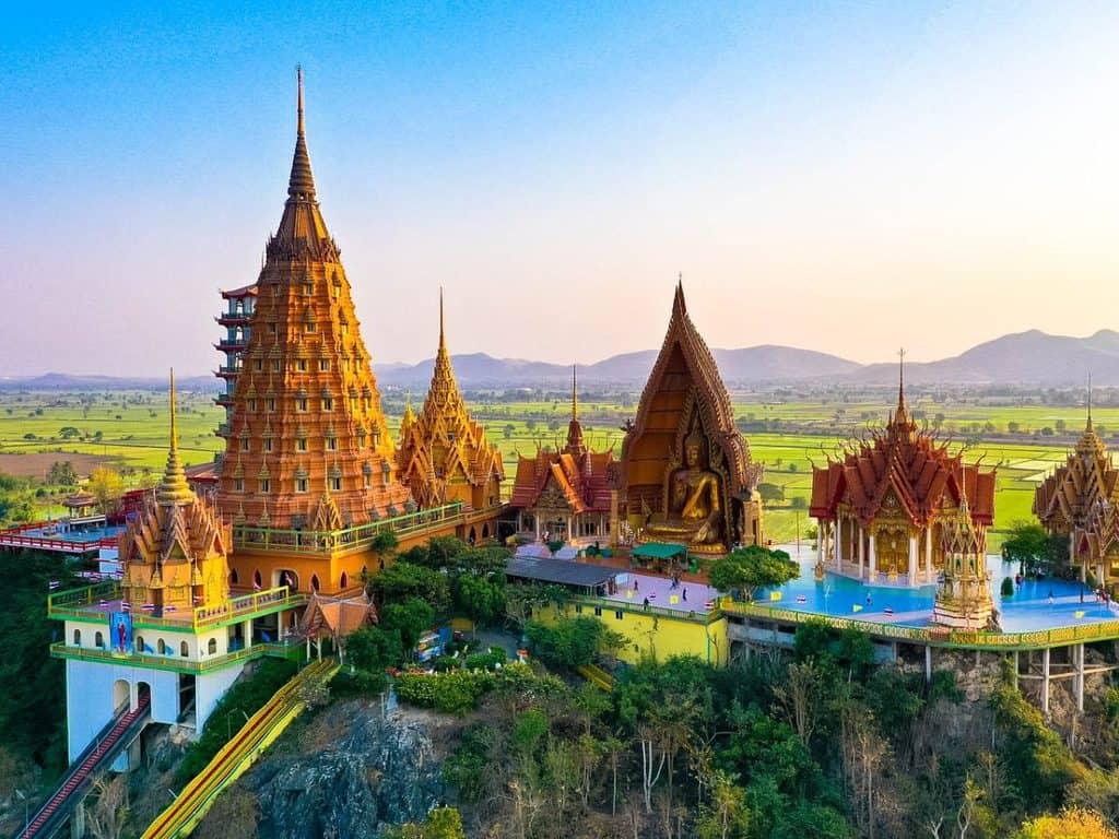 Wat Tham Sua Temple In Kanchanaburi, Thailand