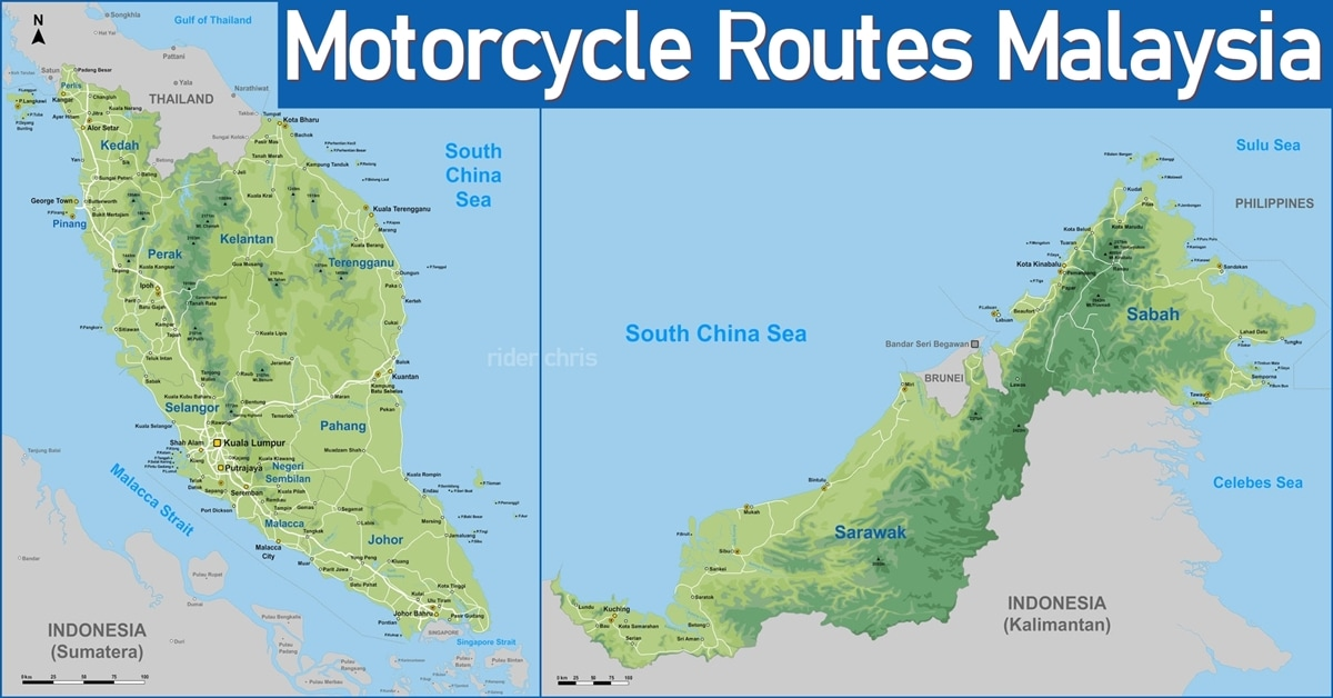 Best Motorcycle Routes In Malaysia