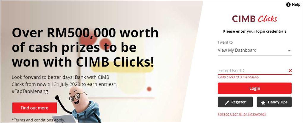 login into cimb clicks