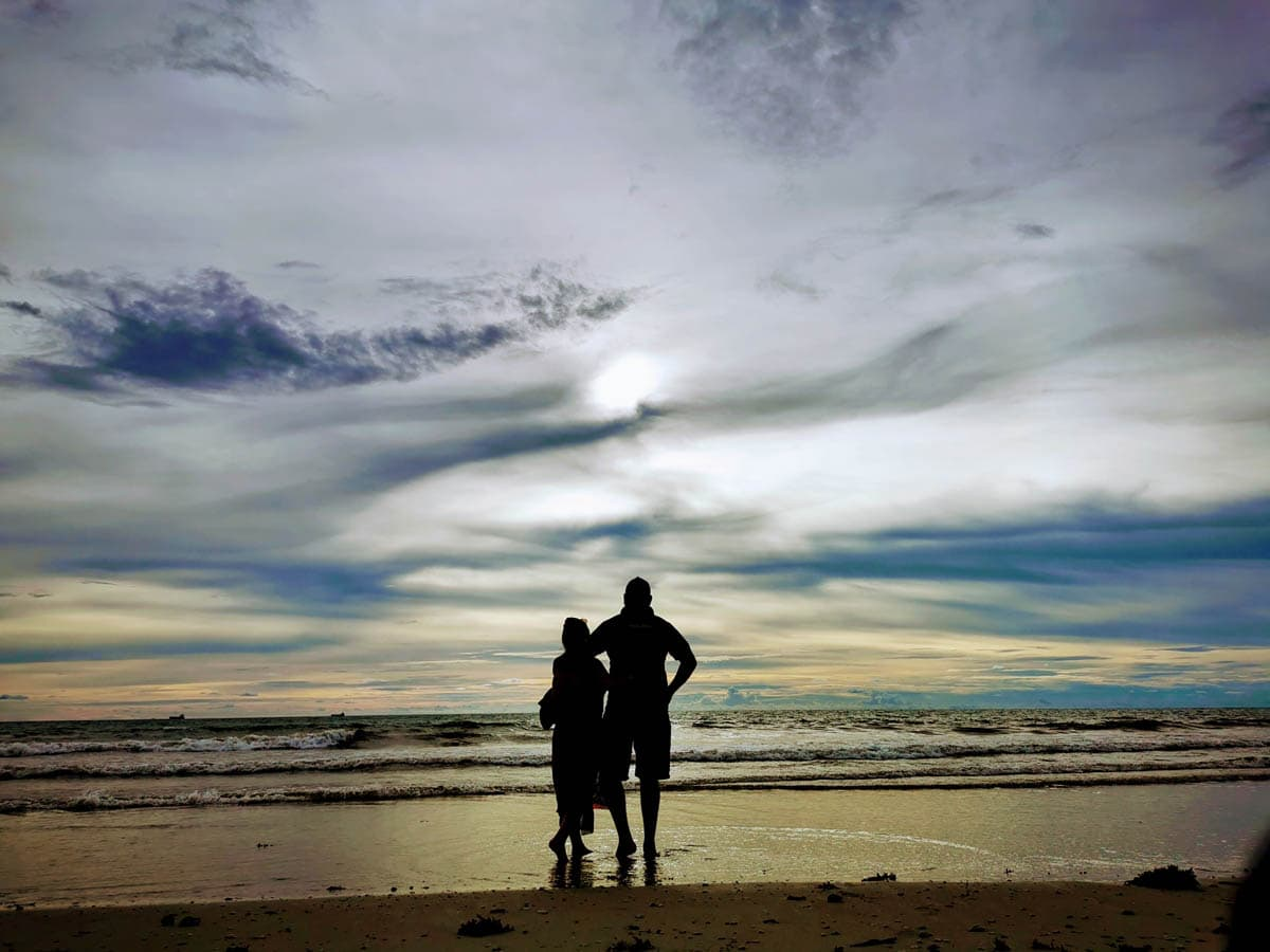 sunset at united nation beach