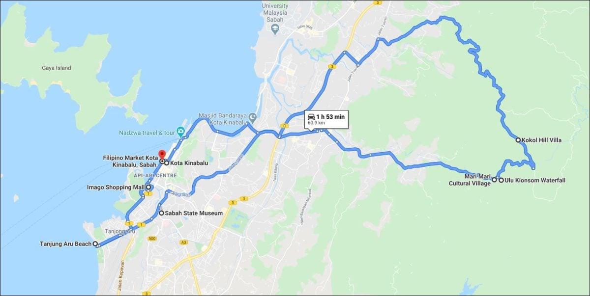 Kota Kinabalu Day 1 Itinerary