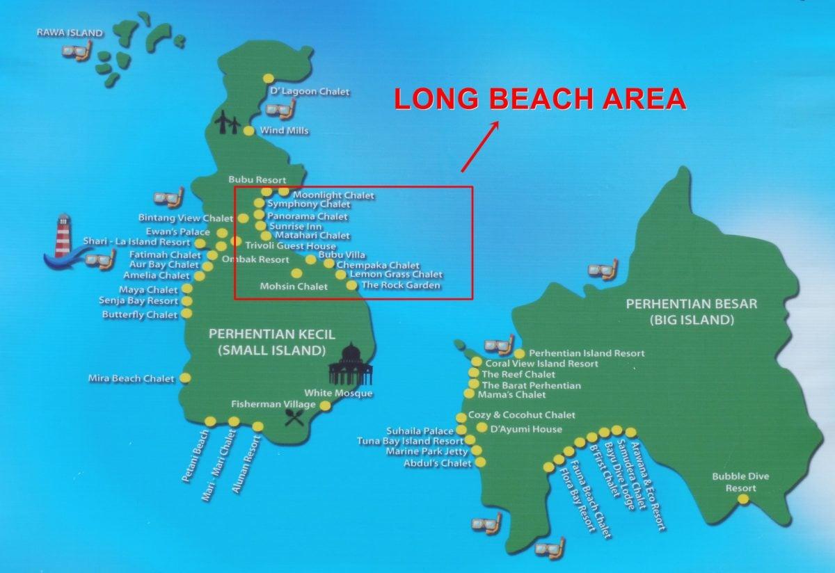 Perhentian Kecil Map