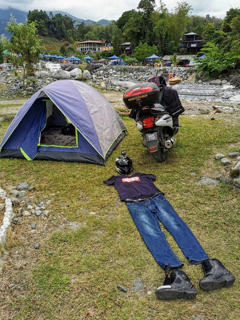 Camping at  Nahandang