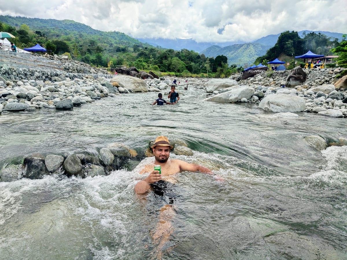 Crystal clear river at Melangkap