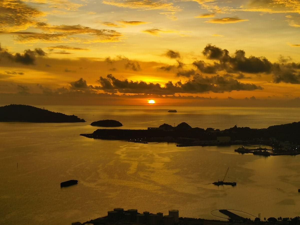 Sunset view from Bonduk Hill