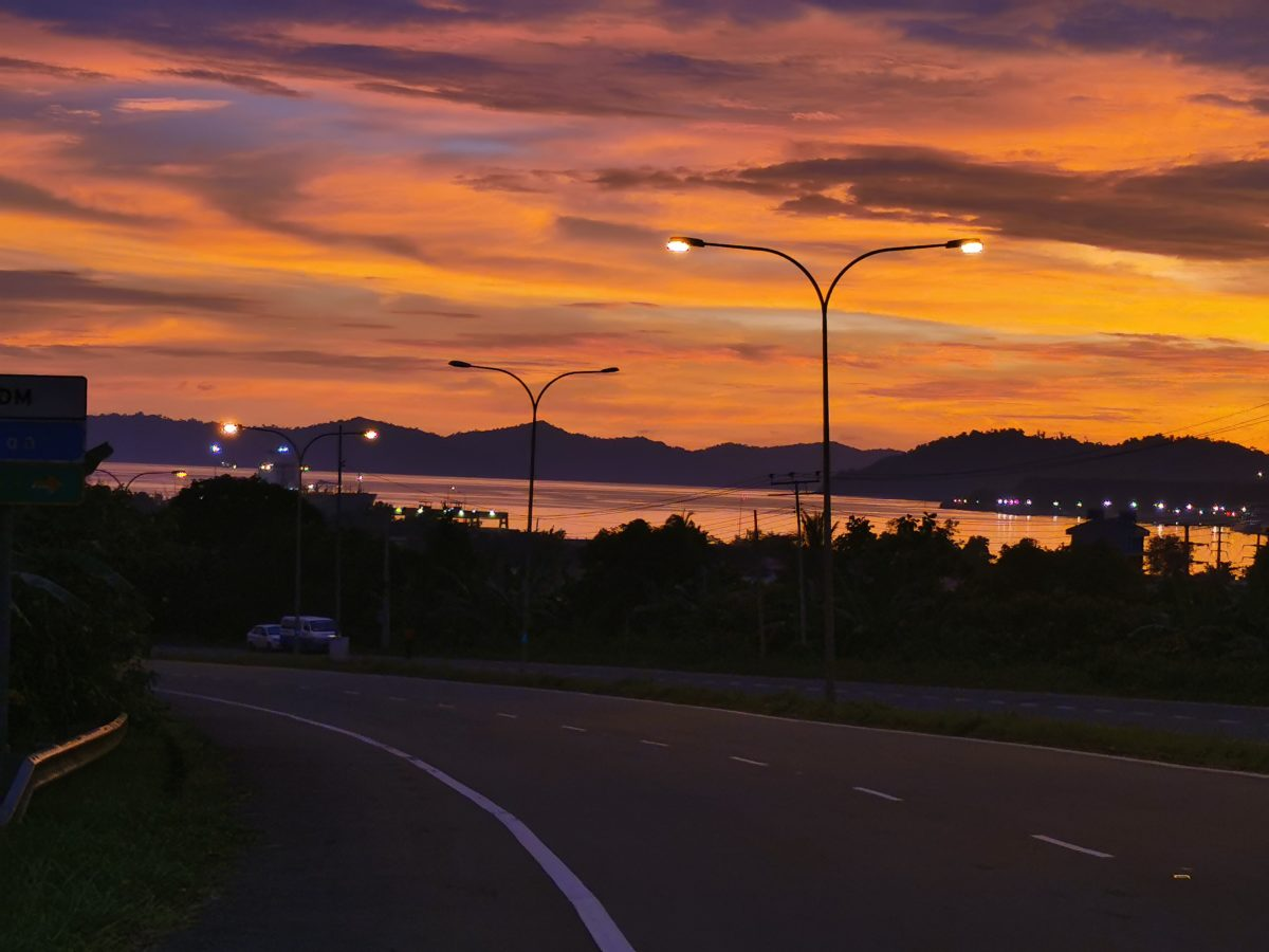 Post sunset overlooking Sepanggar Bay