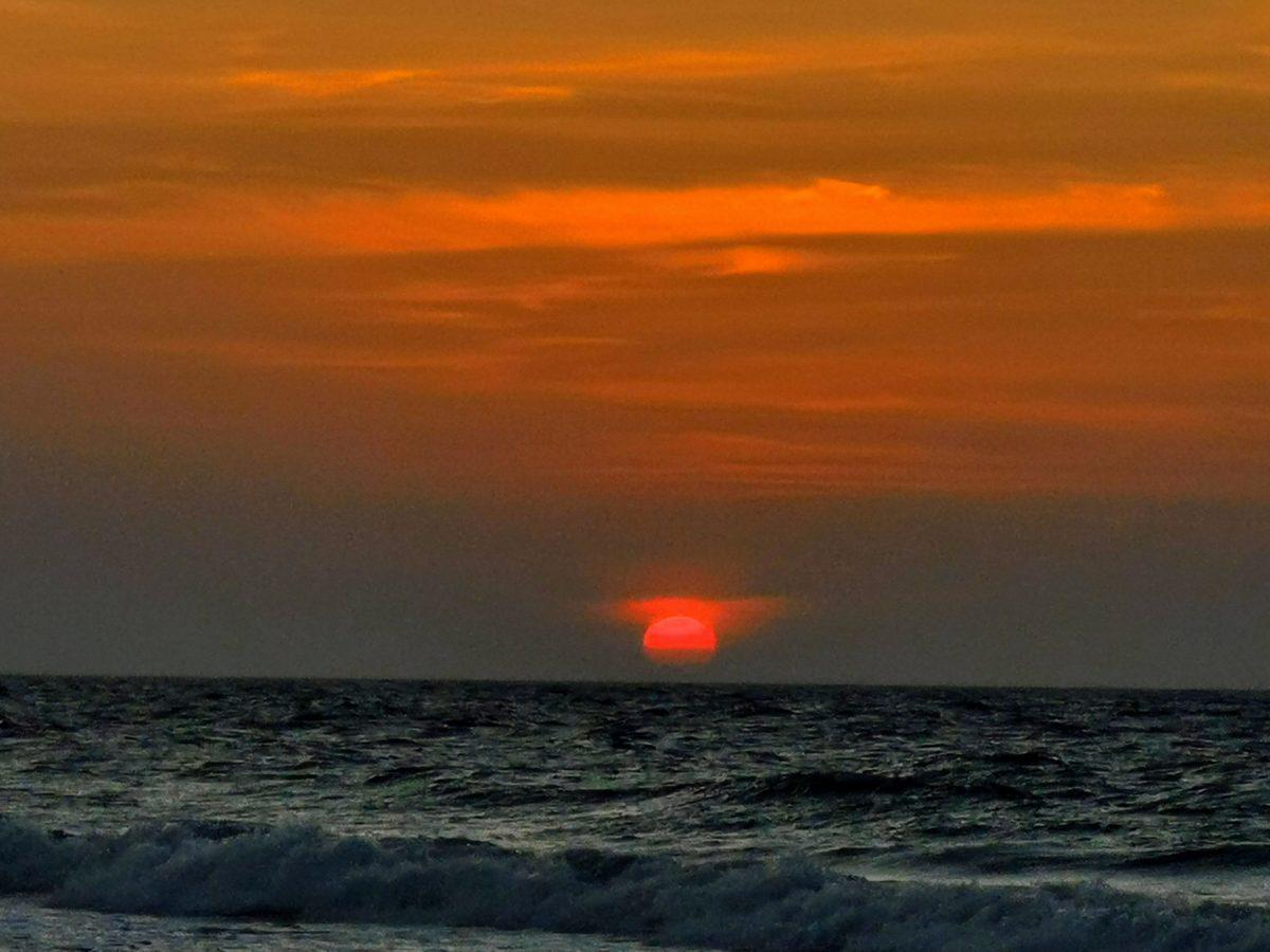 Sunset at Karambunai Beach