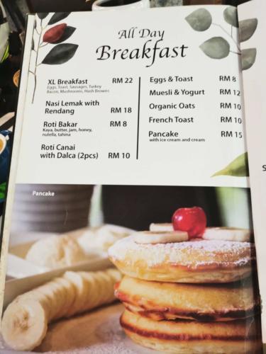 Tanah Aina Fareena Cafe Menu Price