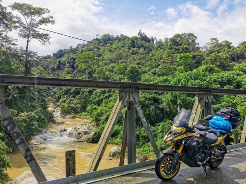 Steel Bridge in a rural village in Jeli