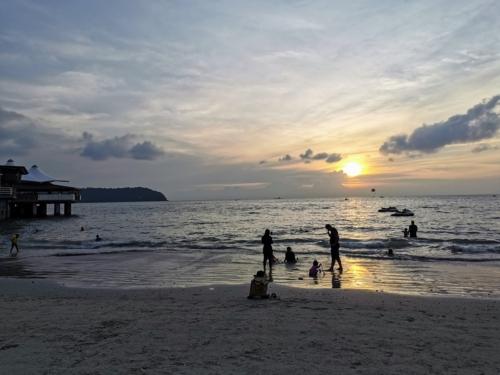 Sunset at Chenang beach