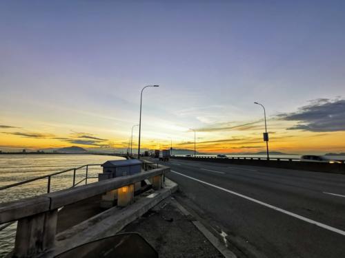 Sunrise from Penang Bridge